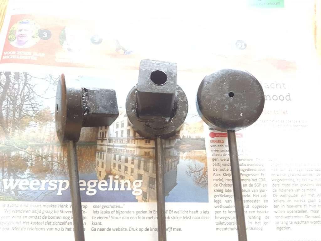 3 stuks Nagelijzers (Smeedgereedschap voor maken van 4, 6, 8 mm dikke spijkers)